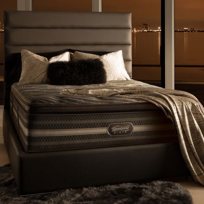 Beautyrest Natasha Black Luxury Firm Pillow Top California King Size Mattress Set