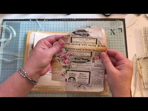 Vintage junk journal using scraps and freebies #junkjournaljunkies - YouTube
