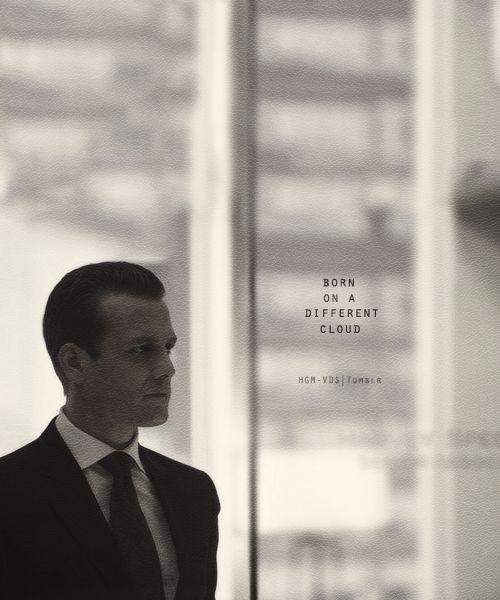 "Suits → Harvey Specter ""Born on a different cloud"". [x]"