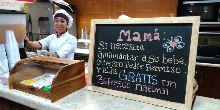 Una campaña prolactancia materna en Guatemala está impulsando una visión social en restaurantes y cafés que se han unido y ofrecen a la madre un lugar para alimentar a su bebé, sin que ella tenga que consumir algún producto.