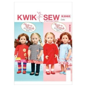 Kwik Sew Patterns K3965 Clothes for 18-Inch Doll Sewing Template, One Size,$8.05 [ http://sewingpatterns.osx128.com/kwik-sew-patterns-k3965-clothes-for-18-inch-doll-sewing-template-one-size/ ]: Doll Clothes, Patterns K3965, K3965 Clothes, 18 Inch Doll, Sewing Patterns