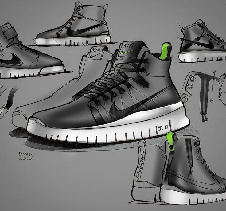 Sneakers Design, Shoes Sneakers, Nike Shoes, Shoe Sketches, Product Sketch,  Sports Shoes, Casual Shoes, Active Wear, Industrial Design