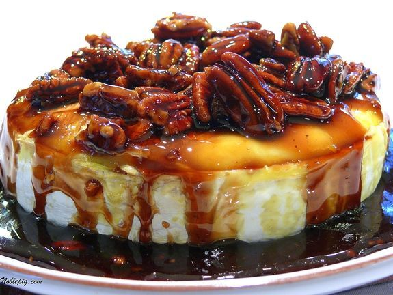 Kahlua/Pecan/Brown Sugar Baked Brie...this would be great for the Holidays