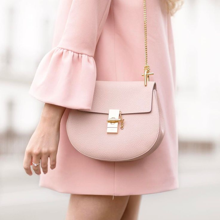 Pink Handbag with Gold Hardware | #Clutch #Bag |
