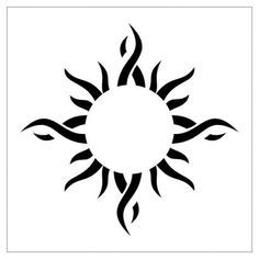 Tribal Sun Tattoos Pics Design.