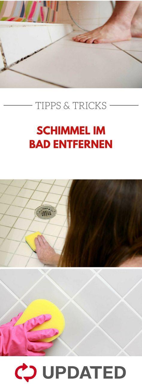 Mit diesen Tipps entfernst du nicht nur den Schimmel in deinem Bad - du verhinderst auch, dass neuer Schimmel entsteht. #schimmel #bad #haushaltstipps #updated