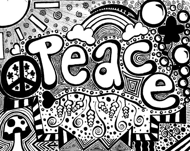 peace and love coloring pages peace and love - Psychedelic Hippie Coloring Pages