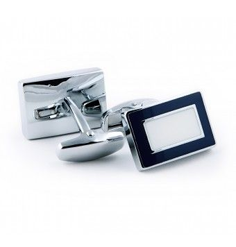 Sterling Silver Rectangular Shaped Cufflinks