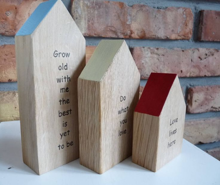 Personalized gift wooden medium house with your words, handmade wood home, Keepsake Word House, Little handmade house, quote little houses by nkcraftstudio on Etsy
