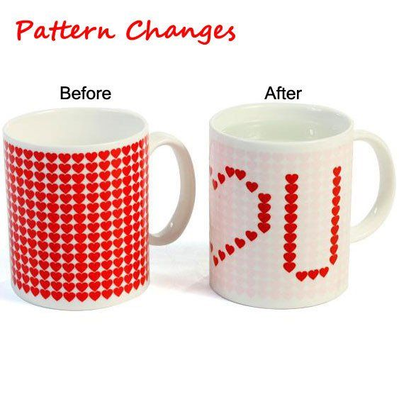 Funny gifts 39 pinterest funny gift color changing mug red heart pattern cup negle Choice Image