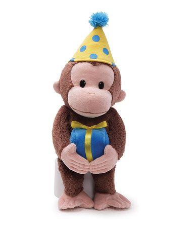 Loving this GUND Curious George Happy Birthday 14'' Plush Toy on #zulily! #zulilyfinds