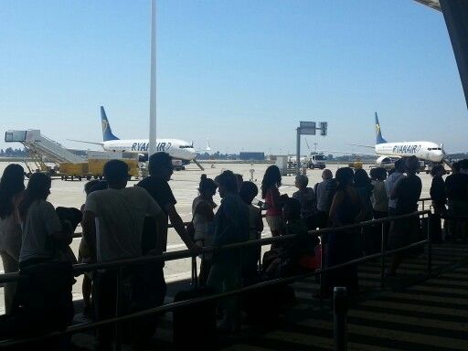 Ryanair fleets at Porto Airport. 20130815