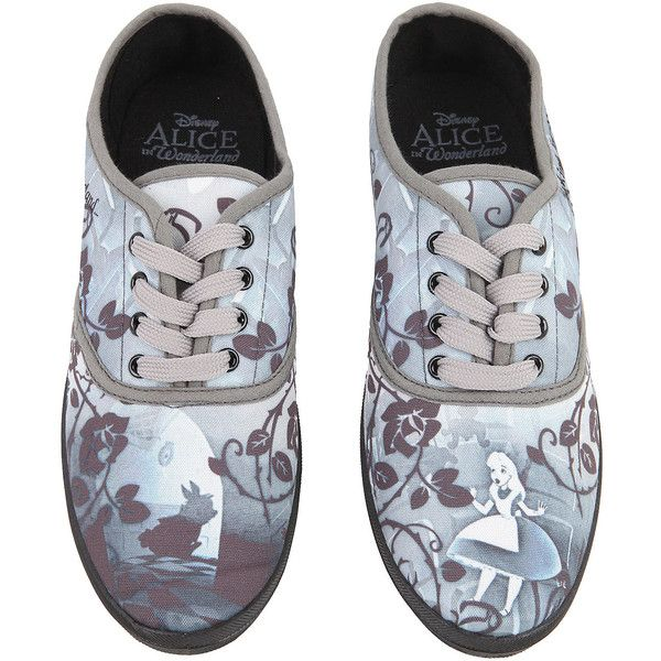 Disney Alice In Wonderland Looking For Wonderland Sneakers Hot Topic ($28) ❤ liked on Polyvore featuring shoes