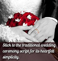 Wedding Ceremony Script Samples Thatll Leave You Spellbound Non Religious