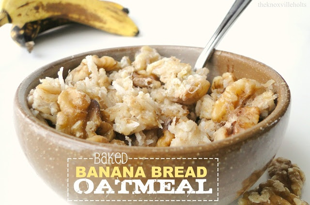 baked banana bread oatmeal | Best Way to Start the Day | Pinterest