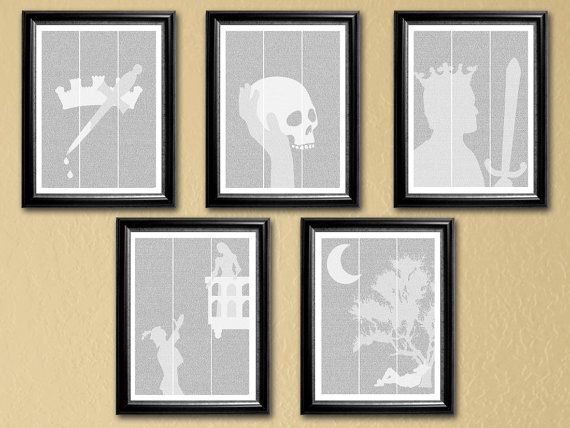 Shakespeare Collection 5 full-text posters 16x20  by NovelImages
