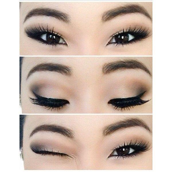 """10 ลุค """"สโมกี้อายเบาๆ"""" สไตล์สาวเอเชีย..แต่งง่าย เดินถนนได้ ❤ liked on Polyvore featuring beauty products, makeup, eye makeup, eyes, beauty et eye make-up"""