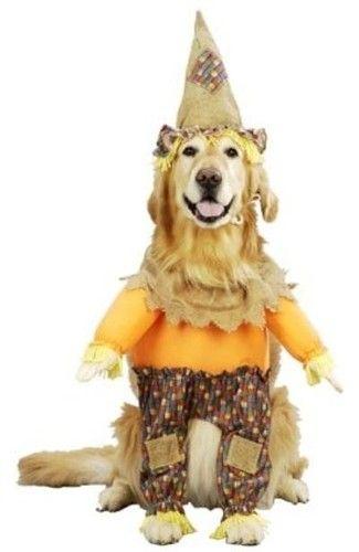 Dog Costume Scarecrow Pet Puppy Halloween Dress Up XS M L