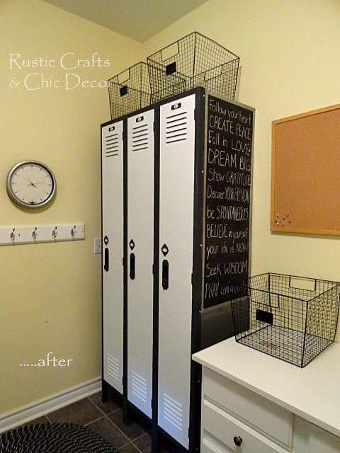 Diy locker makeover rustic crafts chic decor for the for House lockers