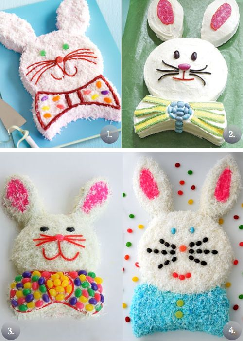 Easter Bunny Cake. Picture and Video Tutorial Available!!!!