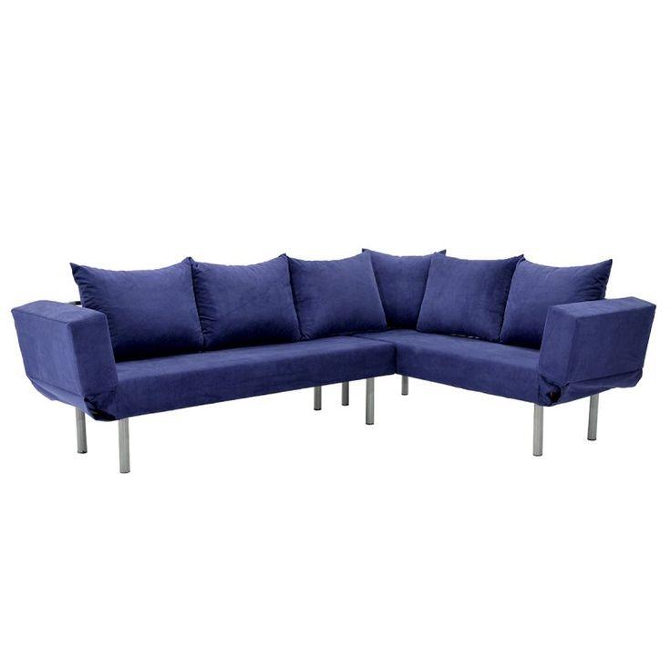 Γωνιακός καναπές Seul Corner με ύφασμα μπλε 233x170x85