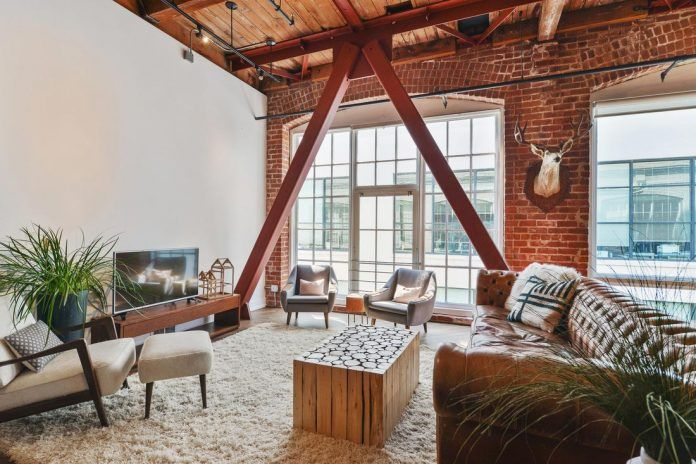 Brick loft situated in San Francisco designed by Melissa Winn Interiors - CAANdesign | Architecture and home design blog