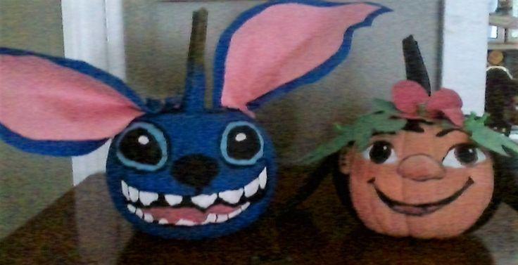 Lilo Amp Stitch Pumpkins I Painted Halloween Pumpkin