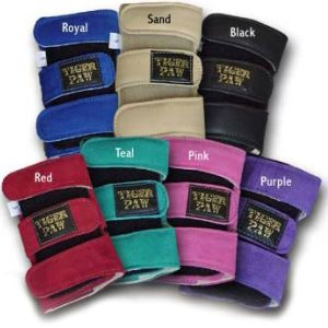 Tiger Paw Wrist Supports - come in a variety of colors and are the best wrist support for gymnastics, cheerleading, yoga, and general fitness.