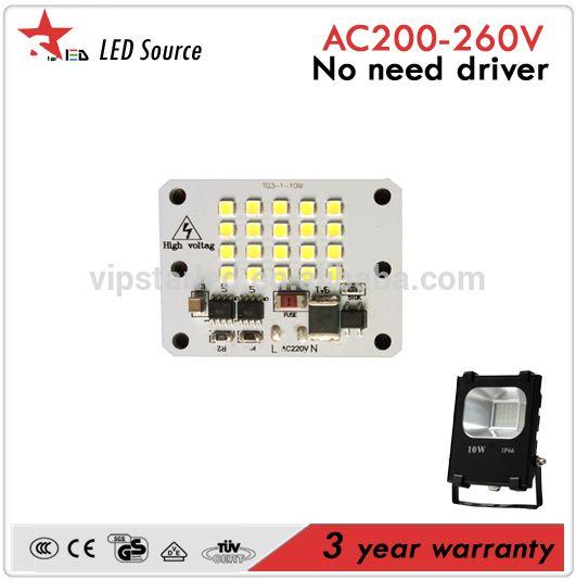 3 years warranty 10W 20W 30W 50W 80W 100W 150W 200W floodlight high bay light chip driverless AC LED modules