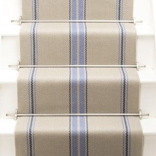 Roger Oates Stair runner in Cluny Denim