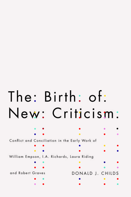 The Birth of New Criticism  design by David Drummond