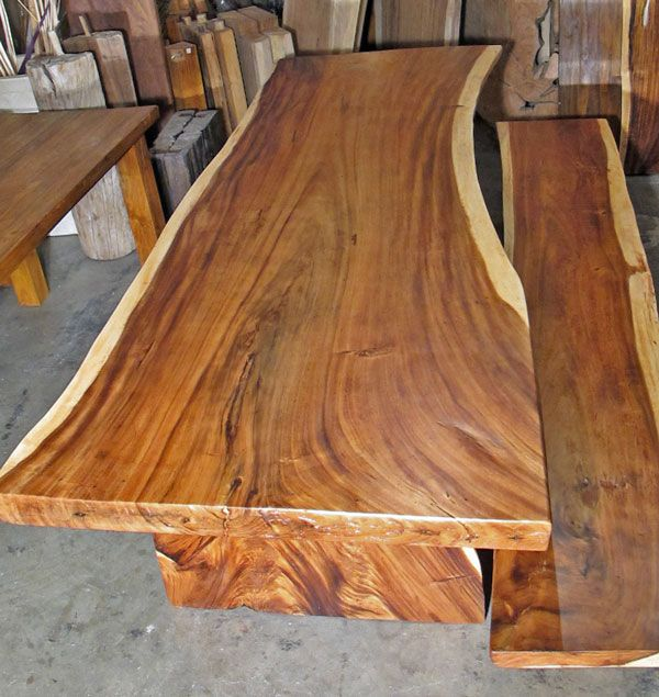 Large Vintage Monkey Pod Wood Slab Coffee Table: 17 Best Images About Live Edge Furniture On Pinterest