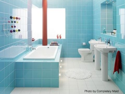 General Photograph  43 Bright And Colorful Bathroom Design Ideas  Small Bathroom Floor Plans  Replacing Bathroom Floor  Bathroom Floor Pictures. 1000  images about Tips for your Bathroom  on Pinterest   Soaking