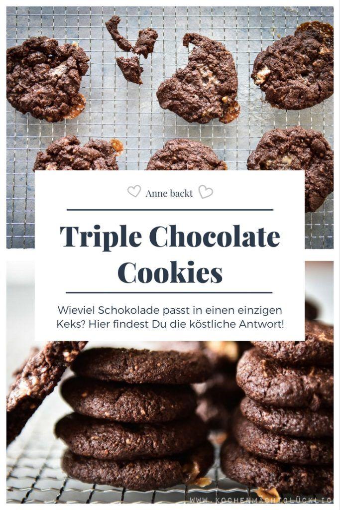 Mehr Schokolade geht nicht. Triple-Chocolate-Cookies - Genuss auf eigene Gefahr!