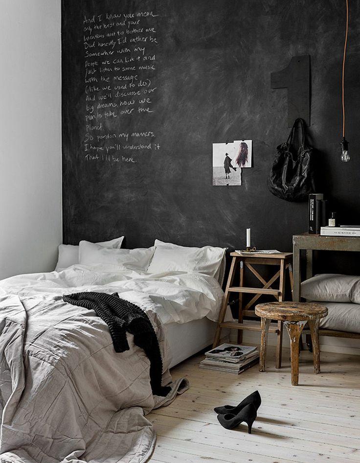 Peinture ardoise : la peinture ardoise trouve sa place dans toutes les pièces de la maison. Zoom sur un revêtement mural fun et pratique....