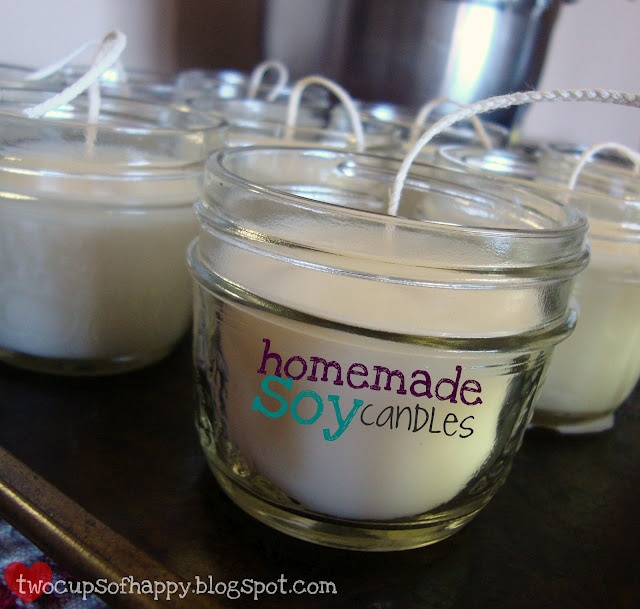 my tutorial for homemade soy candles. easy.