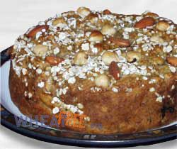 Wheat free autumn apple cake recipe, the perfect way to celebrate Nature's wonderful apples and nuts, makes a great afternoon tea treat