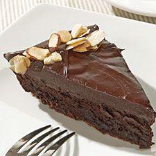 Laura's birthday cake...Flourless Chocolate Cake