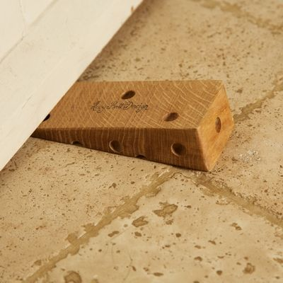Oak Cheese Doorstop #gifts #doorstop #novelty