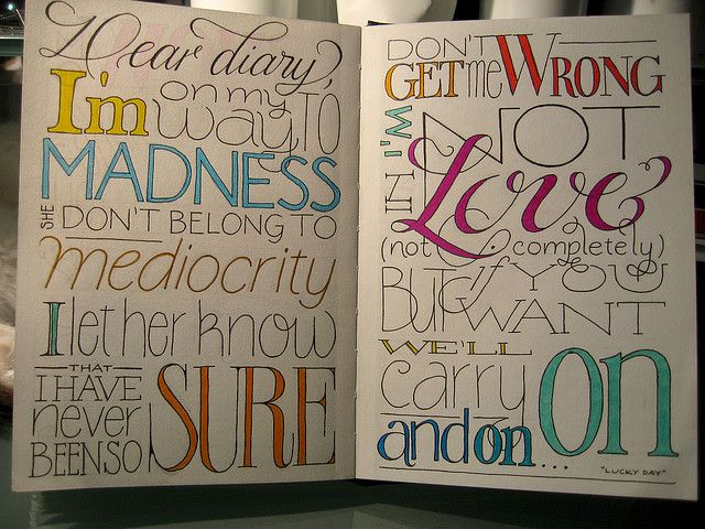 hand-lettering #journal #typography