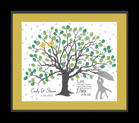 Wedding Guest Book Thumbprint Tree 185 250 Guests 22 X: 8 Best Thumbprint Tree Guest Books Images On Pinterest