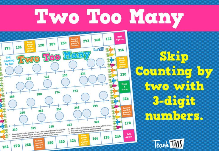 Two Too Many - Skip Counting by 2