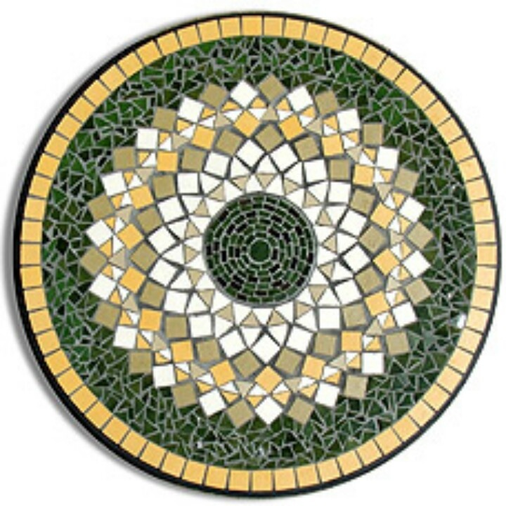 Circle Mosaic Mosaic Pinterest Circles And Mosaics