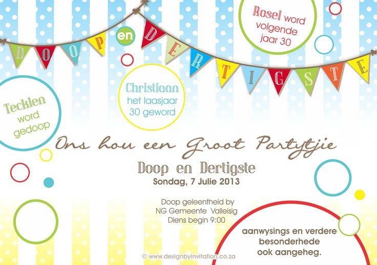 8 best birthdays celebrations verjaarsdae feesvieringe images christening digital invitation stopboris Choice Image