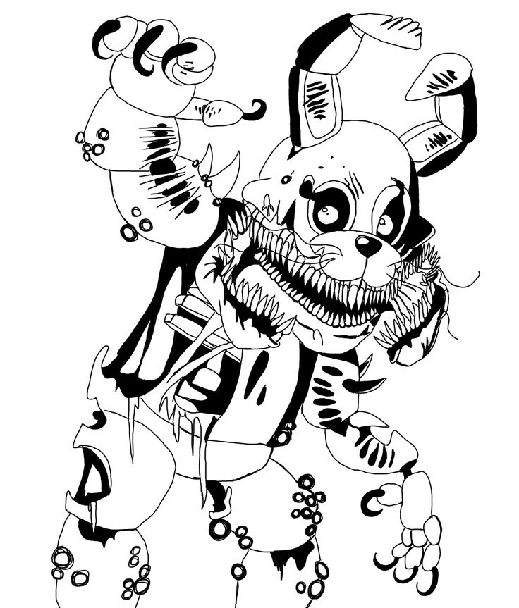 Twisted Bonnie Coloring Pages
