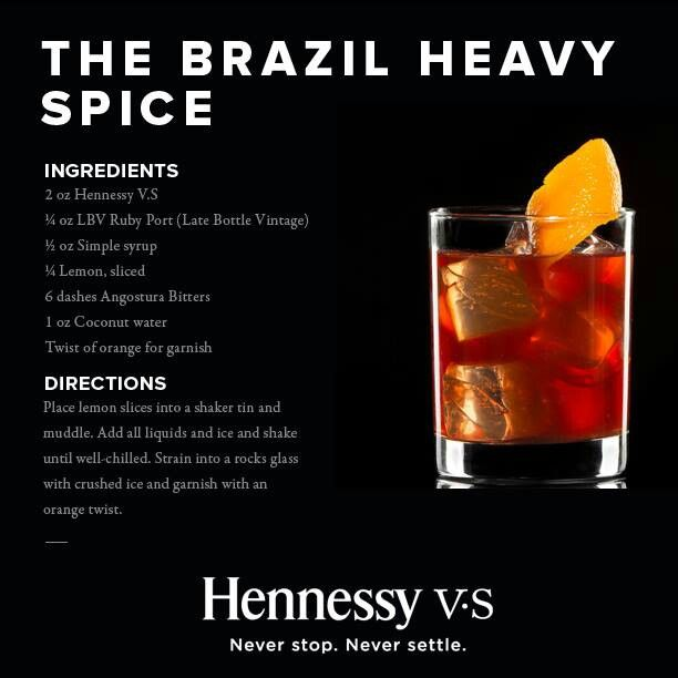 hennessy drink recipes