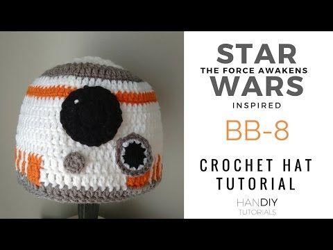 HanDIY Tutorials: BB-8 Droid Crochet Hat Tutorial inspired by Star Wars: The Force Awakens