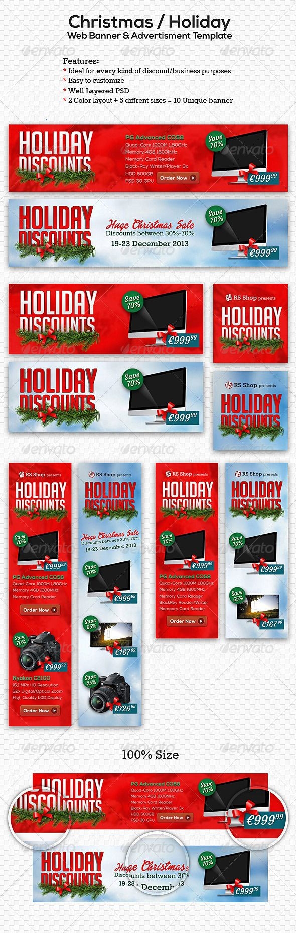 Christmas Holiday Web Banner Advertisment Template PSD | Buy and Download: http://graphicriver.net/item/christmas-holiday-web-banner-advertisment-template/6246318?WT.ac=category_thumb&WT.z_author=overthinking&ref=ksioks