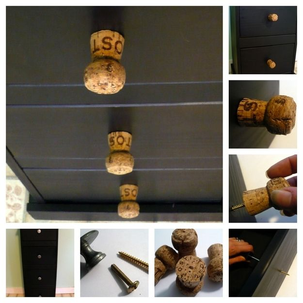 Champagne Cork Knobs -  Man, I love this! Send me your champagne corks after New Years, or any time after you uncork it!