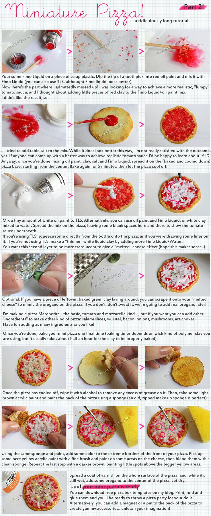 Miniature Pizza Tutorial - 2 by thinkpastel.deviantart.com on @deviantART